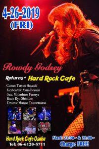 Rowdy Godsey@Hard Rock Cafe Osaka @ ハードロックカフェ大阪